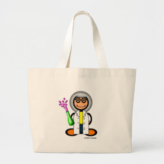 Mad scientist (plain) large tote bag