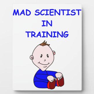 mad scientist photo plaque