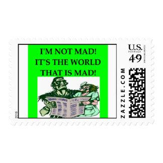 MAD scientist Stamp
