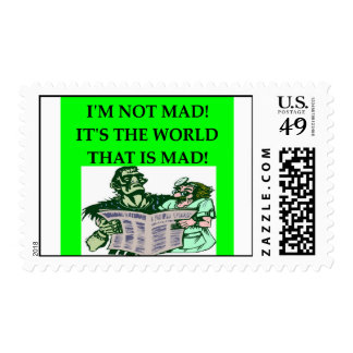 MAD scientist Postage Stamps