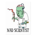 Mad Scientist Postcard Postcard
