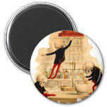 Mad Scientist Skeletons 2 Inch Round Magnet