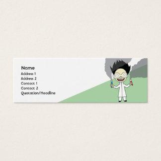 Mad Scientist - Skinny Mini Business Card