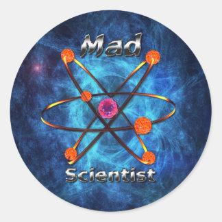 Mad Scientist Round Stickers