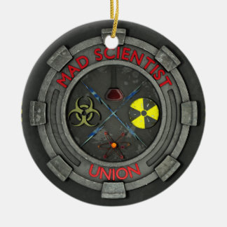 Mad Scientist Union Ceramic Ornament