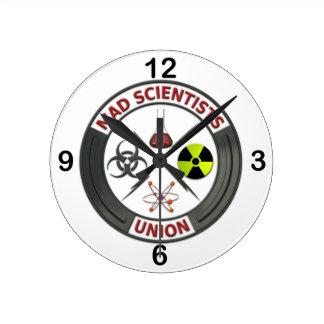 Mad Scientist Union Round Wall Clock
