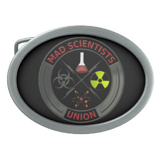 Mad Scientist Union Oval Belt Buckle