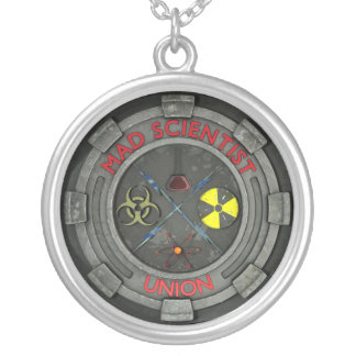 Mad Scientist Union Silver Plated Necklace