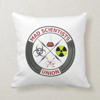 Mad Scientist Union Throw Pillow