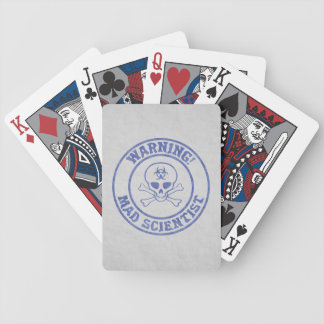 Mad Scientist Warning Bicycle Playing Cards
