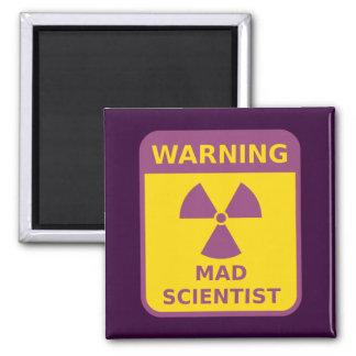Mad Scientist Warning Refrigerator Magnets