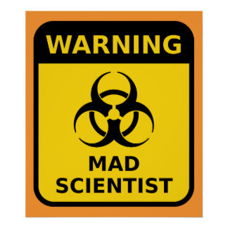 Satisfactory image in printable mad science sign