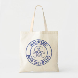Mad Scientist Warning Tote Bag