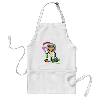 Mad Scientist (with logos) Adult Apron