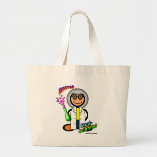 Mad Scientist (with logos) Large Tote Bag