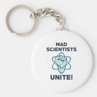 Mad Scientists Unite Keychain