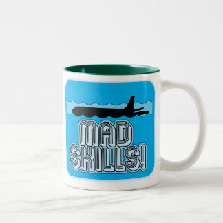 Mad Skills Pilot Two-Tone Coffee Mug