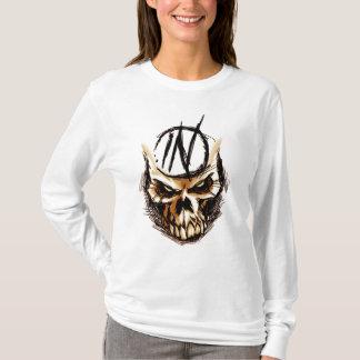 Mad Skull Design Hooded T-Shirt