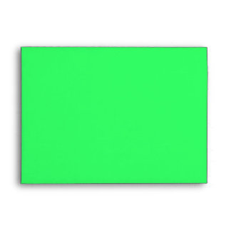 Mad Skull On Green Envelope