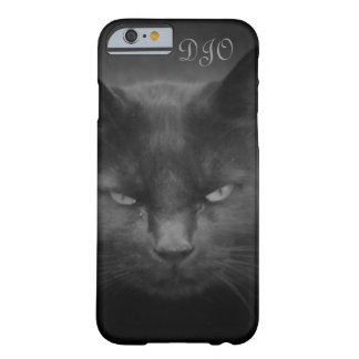 Mad Staring Black Cat Barely There iPhone 6 Case