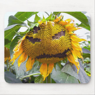 Mad Sunflower Mouse Pad