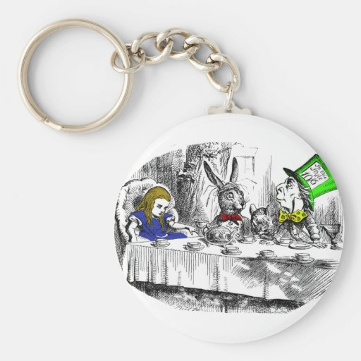 Mad Tea Party Basic Round Button Keychain