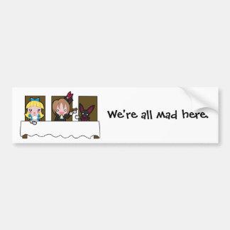 Mad Tea Party Bumper Sticker