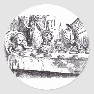 Mad Tea Party Classic Round Sticker