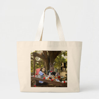 Mad Tea Party Large Tote Bag