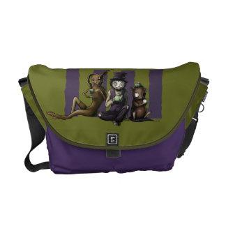 Mad Tea Party Messenger Bag