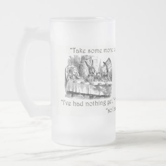 Mad Tea-Party 16 Oz Frosted Glass Beer Mug
