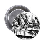Mad Tea Party Pinback Buttons