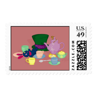 Mad Tea Party Postage Stamp