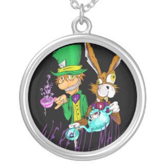 MAD TEA PARTY SILVER PLATED NECKLACE