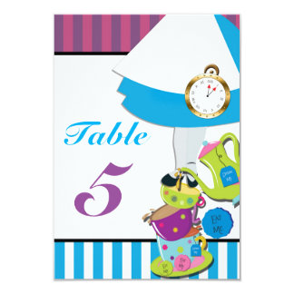 MAD TEA Party Whimsical Birthday Table Number Card