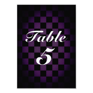MAD TEA Party Whimsical Checker Table Number Card