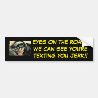 MAD TEXTING AND DRIVING BUMPER STICKER