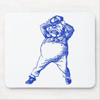 Mad Tweedle Dee Inked Blue Mouse Pad