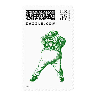Mad Tweedle Dee Inked Green Postage Stamp
