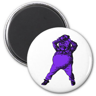 Mad Tweedle Dee Inked Purple Fill 2 Inch Round Magnet
