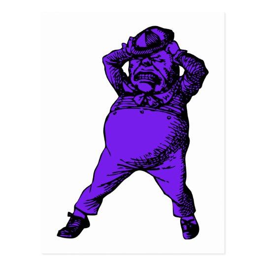 Mad Tweedle Dee Inked Purple Fill Postcard