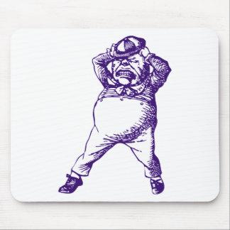 Mad Tweedle Dee Inked Purple Mouse Pad
