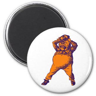 Mad Tweedle Dee Inked Purple Orange 2 Inch Round Magnet