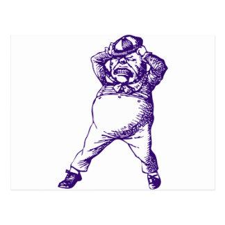 Mad Tweedle Dee Inked Purple Postcard