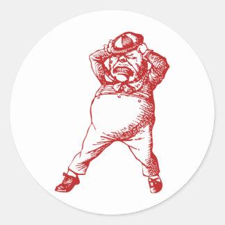 Mad Tweedle Dee Inked Red Classic Round Sticker