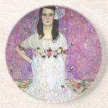 Mada Primavesi by Gustav Klimt Beverage Coaster