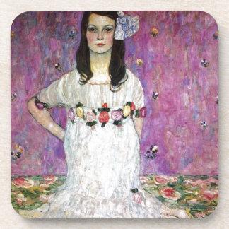 Mada Primavesi by Gustav Klimt Drink Coaster