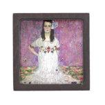 Mada Primavesi by Gustav Klimt Keepsake Box