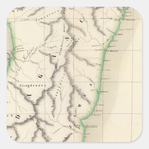 Madagascar África 56 Calcomanía Cuadradase