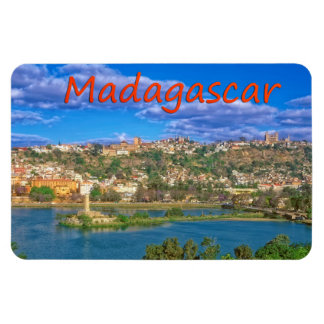 Madagascar capital rectangular photo magnet